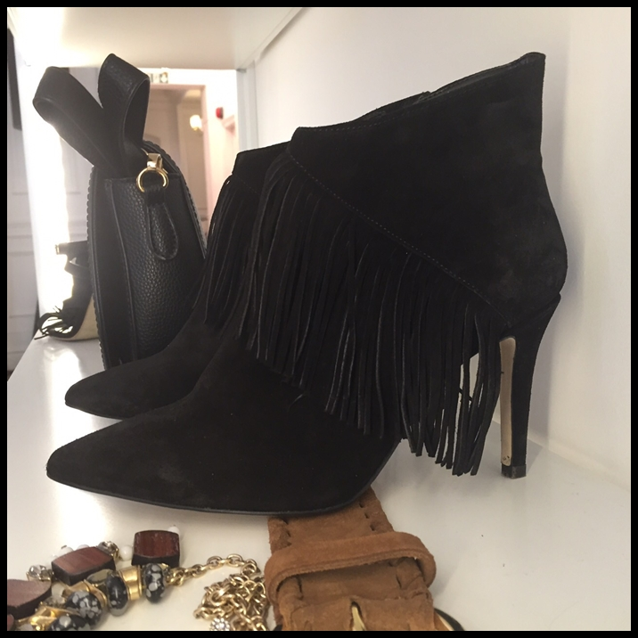 next fringe ankle boots